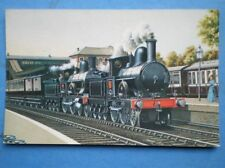 POSTCARD L & NWR WEBB COMPOUND 4-4-0 PILOTED BY 'PRECEDENT' CLASS LOCO AT CHALK