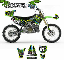 KIT ADESIVI GRAFICHE MONSTER KAWASAKI KX 125 250 2004 2008 DEKOR DECALS