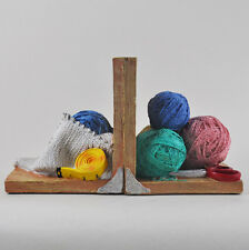Knitting Shelf Tidy Book Ends Wool Balls Heavy Luxury Office Study Gift 12512