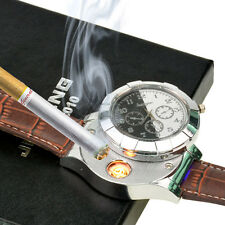 3.5cm Quartz Watch USB Rechargeable Windproof Cigarette Table Watch Lighter