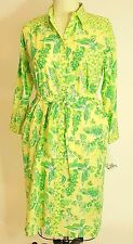 Lilly Pulitzer Woman's Dress XL Caroline Long Sleeve Cotton Belted Butterfly NWT