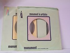 4-MONUMENT COMPANY 45's SLEEVES  LOT # A-576