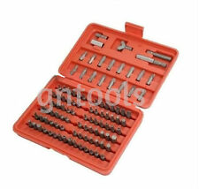 100PC SECURITY TORX TAMPERPROOF HEX SCREWDRIVER BIT SET Suit Drill Or Driver