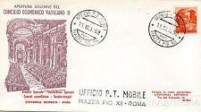 * RELIGIONE - Apertura Solenne Concilio Ecumenico Vaticano II - Busta FDC 1962