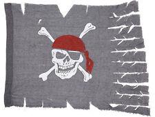 Piratenflagge grau 70 x 95 cm NEU - Partyartikel Dekoration Karneval Fasching