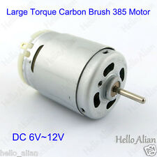 JOHNSON 385 Motor Large Torque Carbon Brush DC6~12V 6500RPM  for Hobby Toy Tools