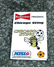 Rare 1986 Chicago Sting MISL Soccer Sports Schedule
