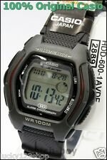 HDD-600-1A Black 10-Year Battery Casio Men'sWatch Dual Time 100m Digital Daily