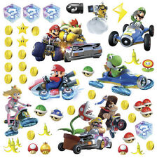 MARIO KART 8 wall stickers 44 decals Nintendo Luigi Peach Yoshi Bowser decor