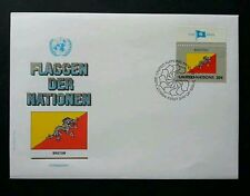 United Nation Flag Bhutan 1984 Dragon (stamp FDC)