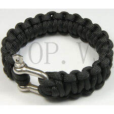 Paracord 550 Bracelets Buckle Camping Survival Gear Tool Camping Metal shackle A