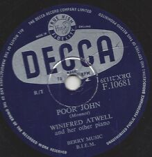 Winifred Atwell and her Piano : Piano Tuners Boogie  + Poor John
