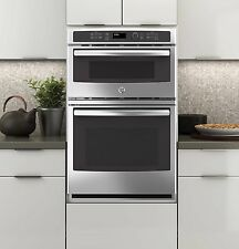 "GE JK3800SHSS 27"" Electric Electric Oven/Microwave Combo: Stainless Steel"