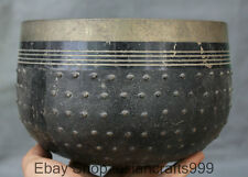 """7 """"Alte chinesische buddhistische Tempel Kupfer Almosen geben Segen Mit Pot Bowl"""