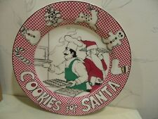 NEW Noritake LE RESTAURANT Epoch Holiday COOKIES FOR SANTA Plate - NEW IN BOX
