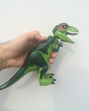 "T-Rex custom new COLOUR Jurassic World XL LARGE 6"" (16cm) - Fits Lego"