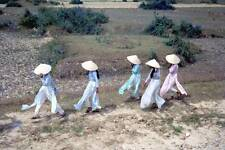 Photo. 1965-6. Da Nang, Vietnam. Women in Ao Dai Dresses