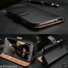 New Genuine Real Leather Wallet stand case for HTC DESIRE 626 + Screen Protector