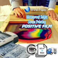 "WaterProof  Inkjet Screen Positive Transparency Film 8.5"" x 11"" 50 Sheets"