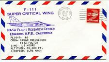 1975 F 111 Super Critical Wing Flight 66 Research Center Edwards Enevoldson NASA