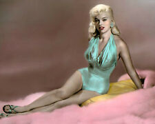 "DIANA DORS THE UNHOLY WIFE 1957 HOLLYWOOD ACTRESS 8x10"" HAND COLOR TINTED PHOTO"