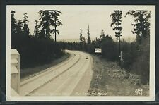 WA Fort Lewis RPPC 40's PACIFIC HIGHWAY Washington to Mexico BILLBOARD Ellis 183