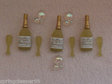 Robe it up boutons ~ félicitations! ~ Champers ~ ~ Flûtes à Champagne bulles