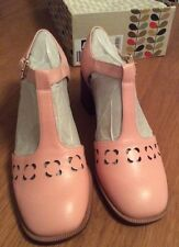 Orla Kiely Clarks, Pink Bibi Shoes In Size 6, EUR 39.5, Vintage Style