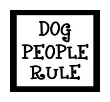 Dog People Rule...Funny Unique Dog Magnet for Fridge or Car.New!!..Great Gift!!