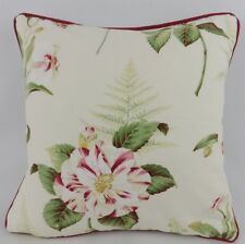 Shabby Chic Red Floral Sanderson Lavina Fern Scatter Pillow Cushion Cover