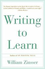 Writing To Learn, Zinsser, William, Good Book