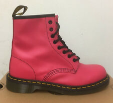 DR. MARTENS 1460  NEON PINK SOFTY T    LEATHER  BOOTS SIZE UK 9