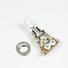 (D44) 3 Way Toggle Switch Pickup Selector for Electric Guitar ,Chrome /White Tip