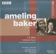 St Matthew Passion - Arias, Recitatives (Ameling, Baker) CD NEW