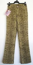"NWT CIMARRON Stretch Cotton Pants Snake Print 26""x32"" Boots cut New Super Rare"