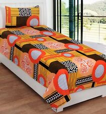 SYK Soft Cotton Single Bed sheet,Bedsheets with 1 Pillow Cover (SYKSB03)