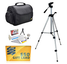 Tripod & Case Kit for Sony Cybershot DSC RX100 III W800 WX350 H400 H300 HX400V