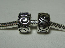 BUNDLE 2 GENERIC CHARMS Stopper Clips SPRIAL SET & Pandora Polishing Cloth