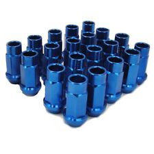 M12 X1.5mm Aluminum Wheel Lug Nuts Open End Blue CT200h IS250 IS350 LS460 ISF