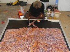 "ABORIGINAL ART PAINTING by LYNETTE CORBY NUNGURRAYI ""TREE ROOTS"" Authentic, WIP"