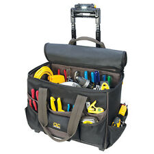 "CLC L258 Large 17"" Roller Rolling Tool Bag Box Carrier LED Light Lighted Handle"