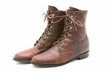 Justin USA Womens Cowboy Boots 8.5 B Leather Packer Lacer Lace up Riding Western