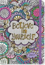 2017 Diary Believe In Yourself Colouring 16 Month Planner By Peter Pauper