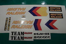 Raleigh (Banana) team set. The works with 14 decals. Hot off press!