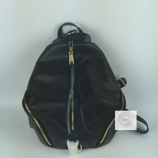 REBECCA MINKOFF JULIAN BACKPACK BLACK GOLD TONE HARDWARE FULL LEATHER BNWT