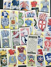 """KANE PRODUCTS 1957 SET OF 25 """"FOOTBALL CLUBS & BADGES"""" TRADE CARDS"""