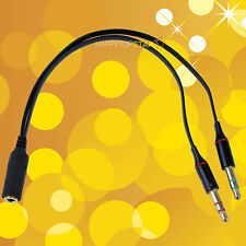 3.5mm Stereo 4 Pole Socket TRRS to Microphone & Headset Splitter Adapter Cable