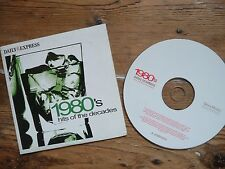 1980's HITS OF THE DECADES - VARIOUS ARTISTS - Express PROMO MUSIC CD
