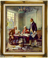 Writing the Declaration of Independence Framed Art  Print