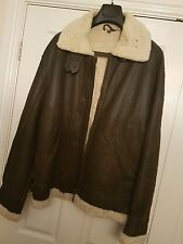 mens rare german vintage flying bomber jacket collectors item leather sheepskin
